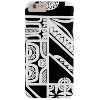 Conception tribale de tatouage d'île de Marquesas Coque Barely There iPhone 6 Plus