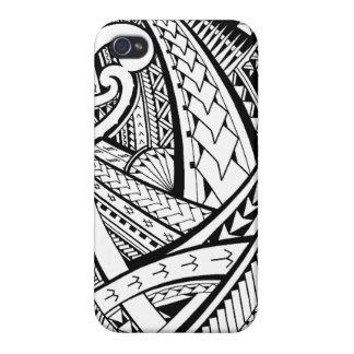 Conception tribale Samoane de tatouage avec des fe Coques iPhone 4
