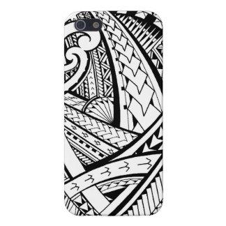 Conception tribale Samoane de tatouage avec des fe Étui iPhone 5