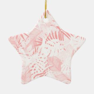 Conception tropicale rose douce abstraite ornement étoile en céramique
