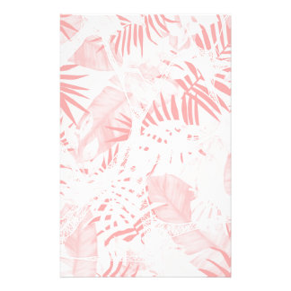 Conception tropicale rose douce abstraite papier à lettre personnalisé