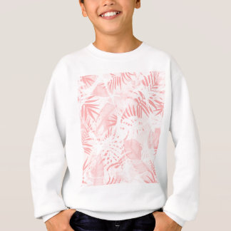 Conception tropicale rose douce abstraite sweatshirt
