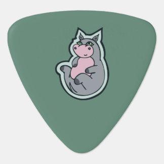 Conception turquoise de dessin de jeune onglet de guitare