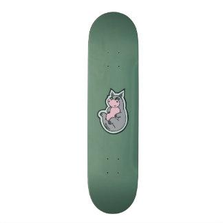 Conception turquoise de dessin de jeune skateboard 21,6 cm