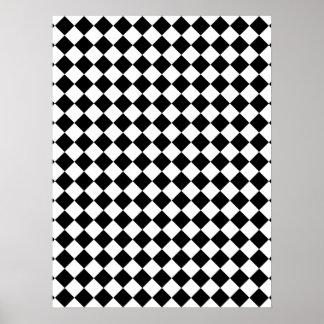 Conception vérifiée noire et blanche poster