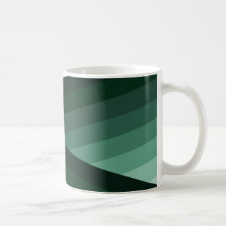 Conception verte contemporaine sereine d'Ombre Mug
