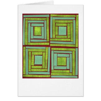 Conception verte de carrés cartes de vœux