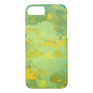 Conception verte et jaune d'art abstrait coque iPhone 7