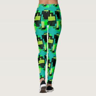 Conception verte sur des guêtres leggings