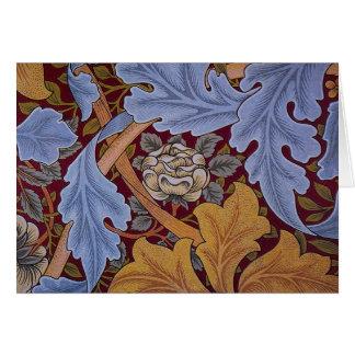Conception vintage d'acanthe de William Morris Carte De Vœux