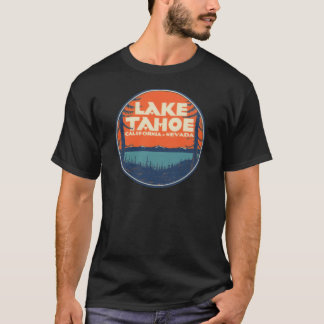 Conception vintage de décalque de voyage du lac t-shirt