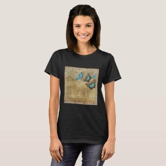 Conception vintage de papillon t-shirt