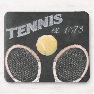 Conception vintage de tableau de tennis tapis de souris