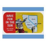 Conception vintage de voyage de Las Vegas Navada Cartes Postales