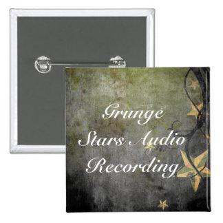Conception vintage d'étoiles grunges badges