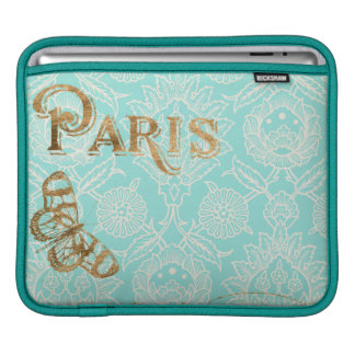 Conception vintage d'or de Paris Housses iPad
