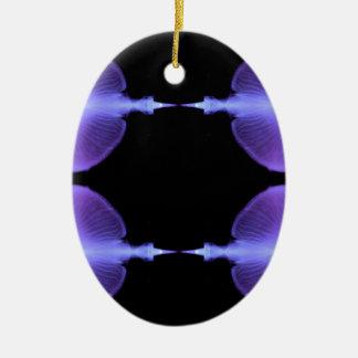Conceptions artistiques de méduses élogieuses ornement ovale en céramique