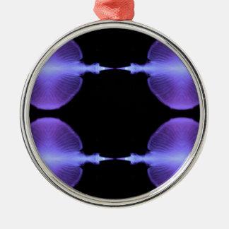 Conceptions artistiques de méduses élogieuses ornement rond argenté