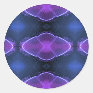 Conceptions artistiques de méduses élogieuses sticker rond
