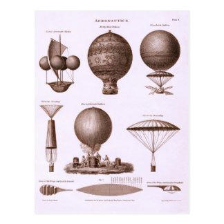 Conceptions chaudes historiques de ballon à air cartes postales