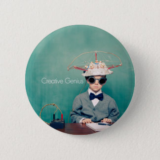 Conceptions créatives de génie badge