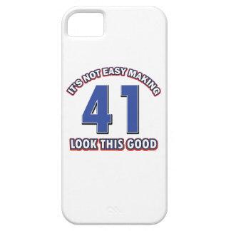 conceptions d anniversaire de 41 années étuis iPhone 5