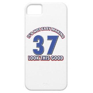 conceptions d'anniversaire de 37 années coques iPhone 5