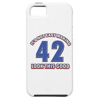 conceptions d'anniversaire de 42 années coque iPhone 5