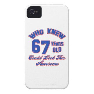conceptions d'anniversaire de 67 années coque iPhone 4 Case-Mate