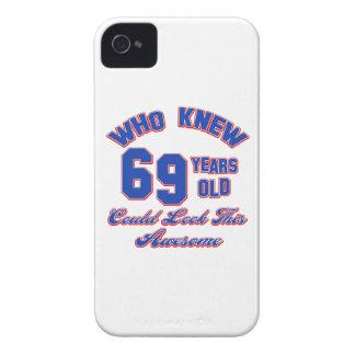 conceptions d'anniversaire de 69 années coques Case-Mate iPhone 4
