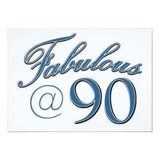 conceptions d'anniversaire de 90 ans carton d'invitation  12,7 cm x 17,78 cm