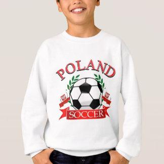 Conceptions de ballon de football de la Pologne Sweatshirt