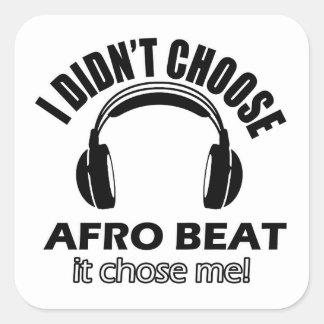 Conceptions de battement d'Afro Sticker Carré