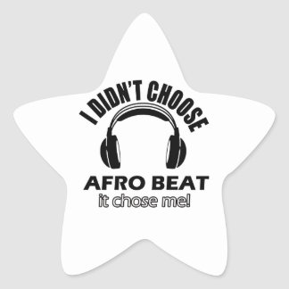 Conceptions de battement d'Afro Sticker Étoile