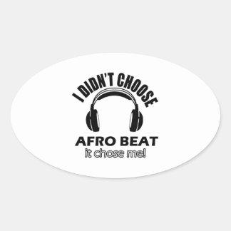 Conceptions de battement d'Afro Sticker Ovale