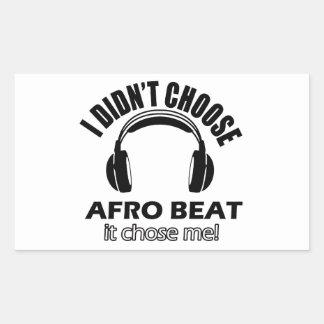 Conceptions de battement d'Afro Sticker Rectangulaire