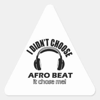 Conceptions de battement d'Afro Sticker Triangulaire