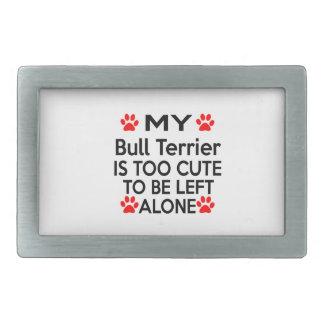 Conceptions de bull-terrier boucles de ceinture rectangulaires