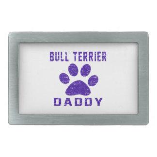 Conceptions de cadeaux de papa de bull-terrier boucles de ceinture rectangulaires