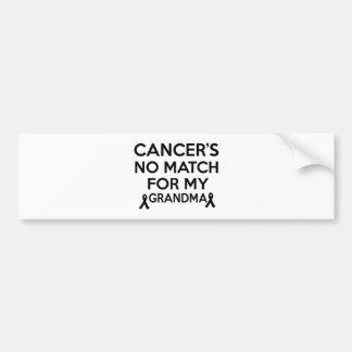 Conceptions de Cancer Autocollant De Voiture