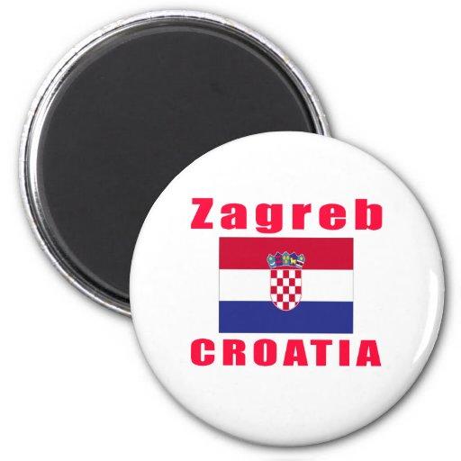 Conceptions de capital de Zagreb Croatia Aimants