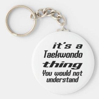 Conceptions de chose du Taekwondo Porte-clé Rond