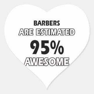 conceptions de coiffeur sticker cœur