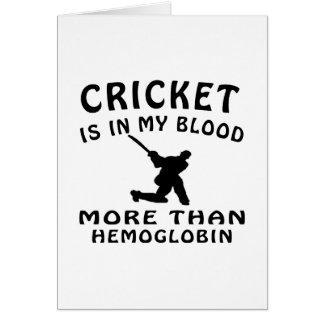 Conceptions de cricket cartes