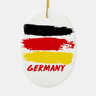 Conceptions de drapeau de l'Allemagne Ornement Ovale En Céramique