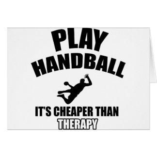 Conceptions de handball cartes de vœux