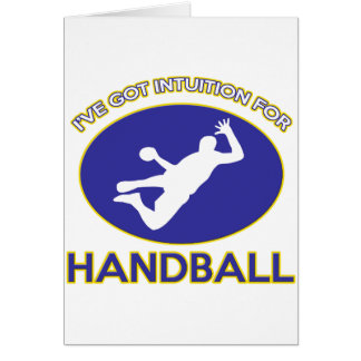 conceptions de handball carte