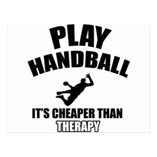 Conceptions de handball carte postale