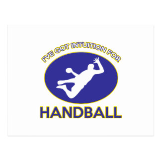 conceptions de handball cartes postales