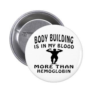 Conceptions de musculation badge rond 5 cm